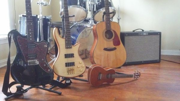 Choose an instrument or pick more than one. Guitar, bass, drum, and ukulele lessons are all offered.